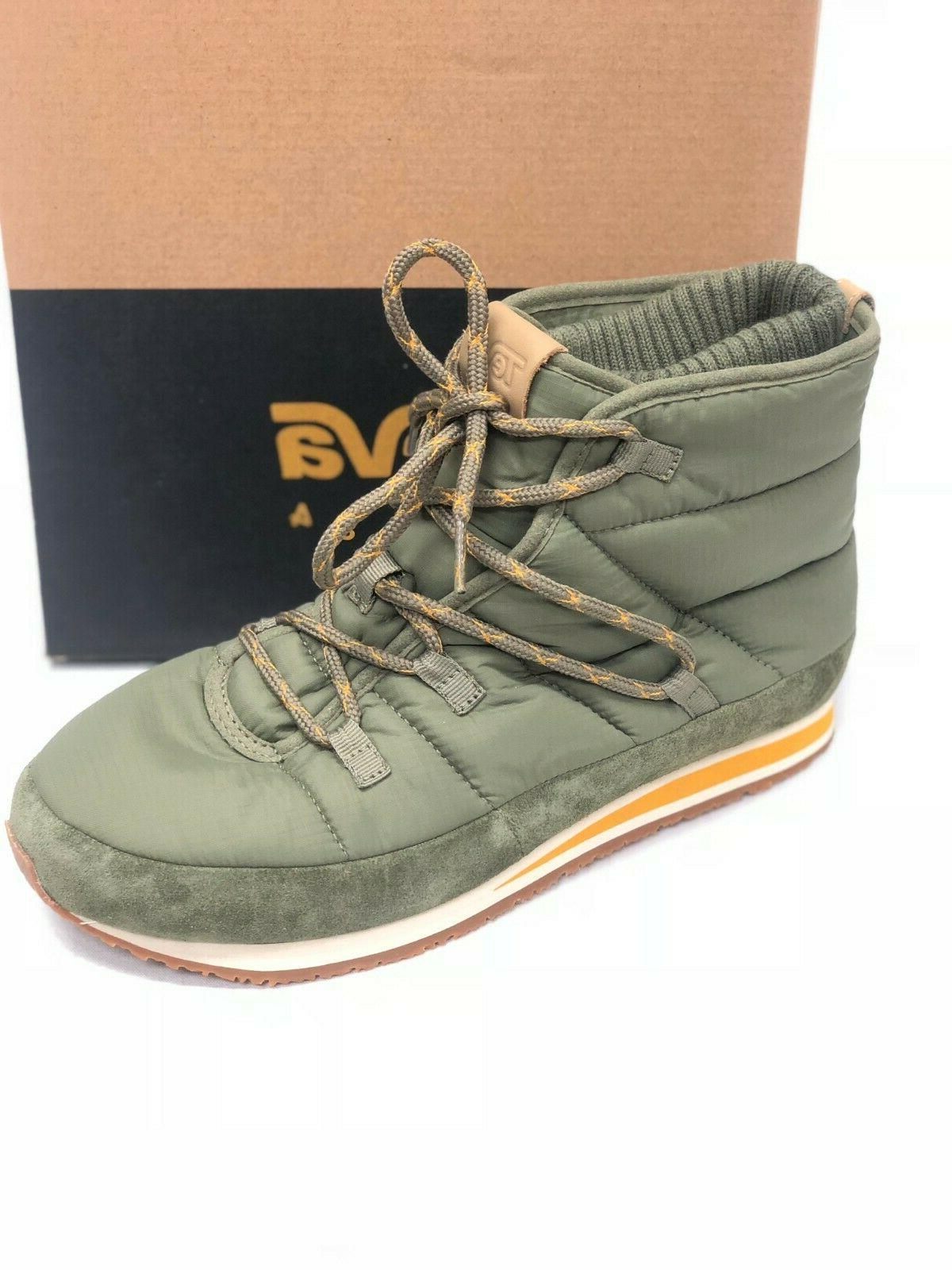 Teva Men's Ember Lace Boots Burnt Olive 1094235 Green Shoes