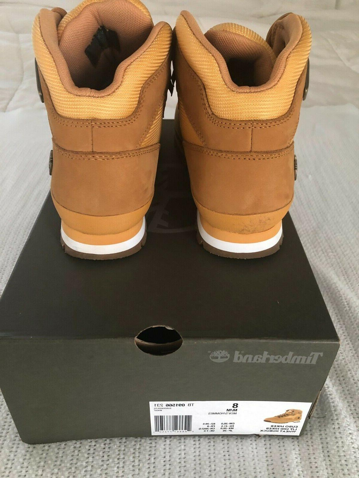 Timberland MEN'S EURO BOOTS Size 8