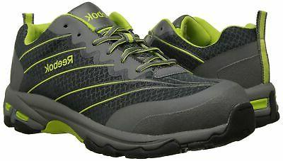 Reebok Men's Exline Shoe, Grey/Lime