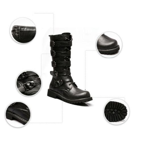 Men's High Top Motorcycle Retro Military Shoes