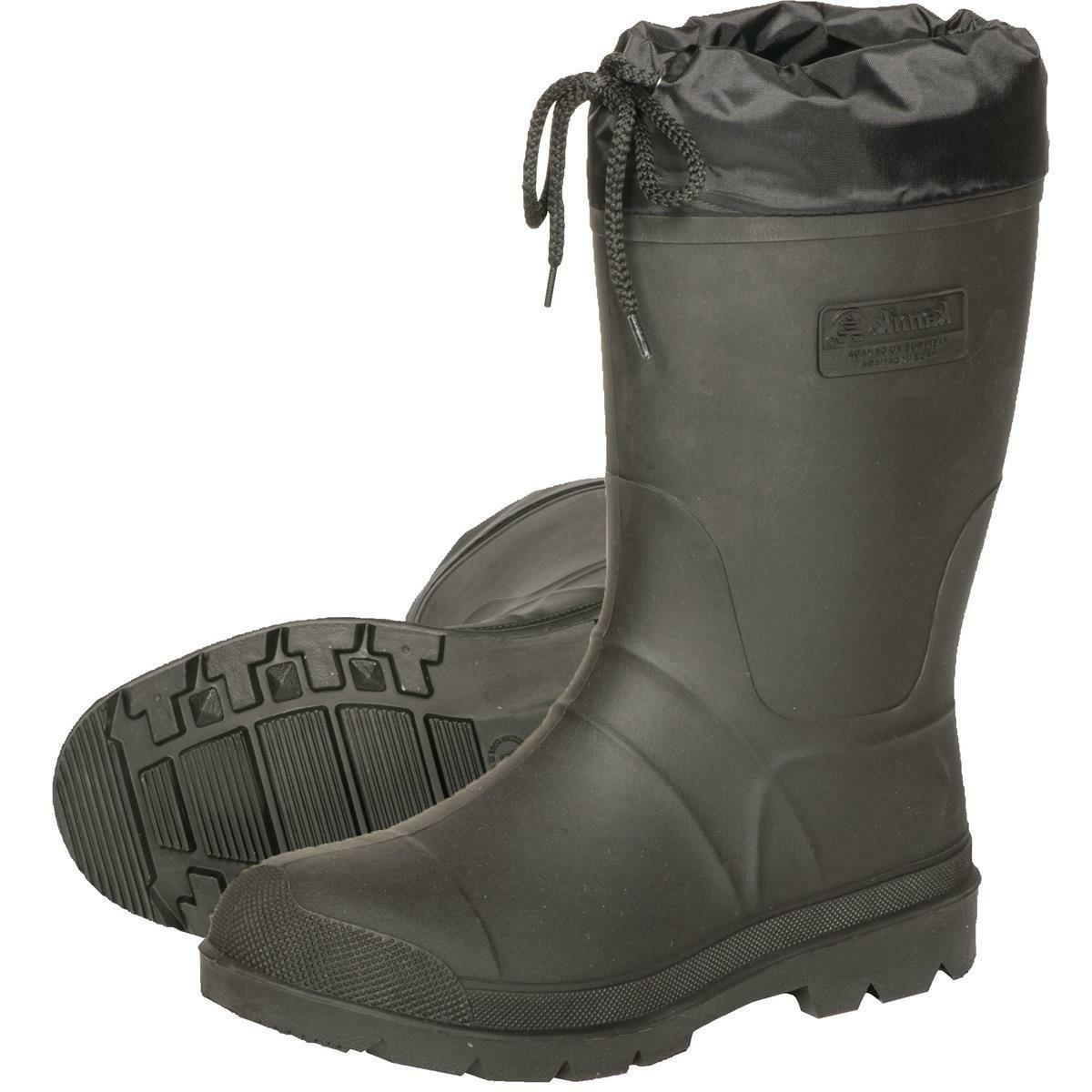Kamik Men's Hunter Insulated Rubber Boot BLACK SIZE 12