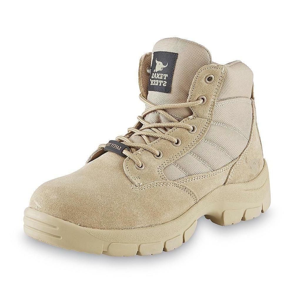 Texas Steer Men's Kyser2 Sand Steel Toe Work Boot military s
