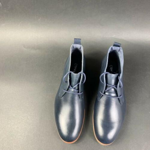 Calvin Plain Shoes Leather Upper Navy Size