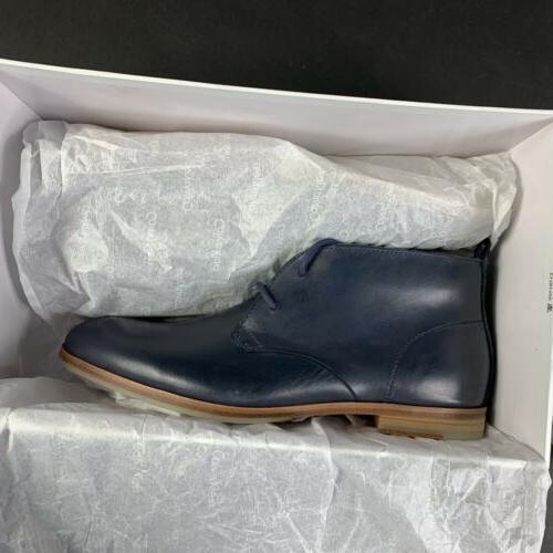 Calvin Men's Laceup Plain Dress Shoes Leather Upper Size