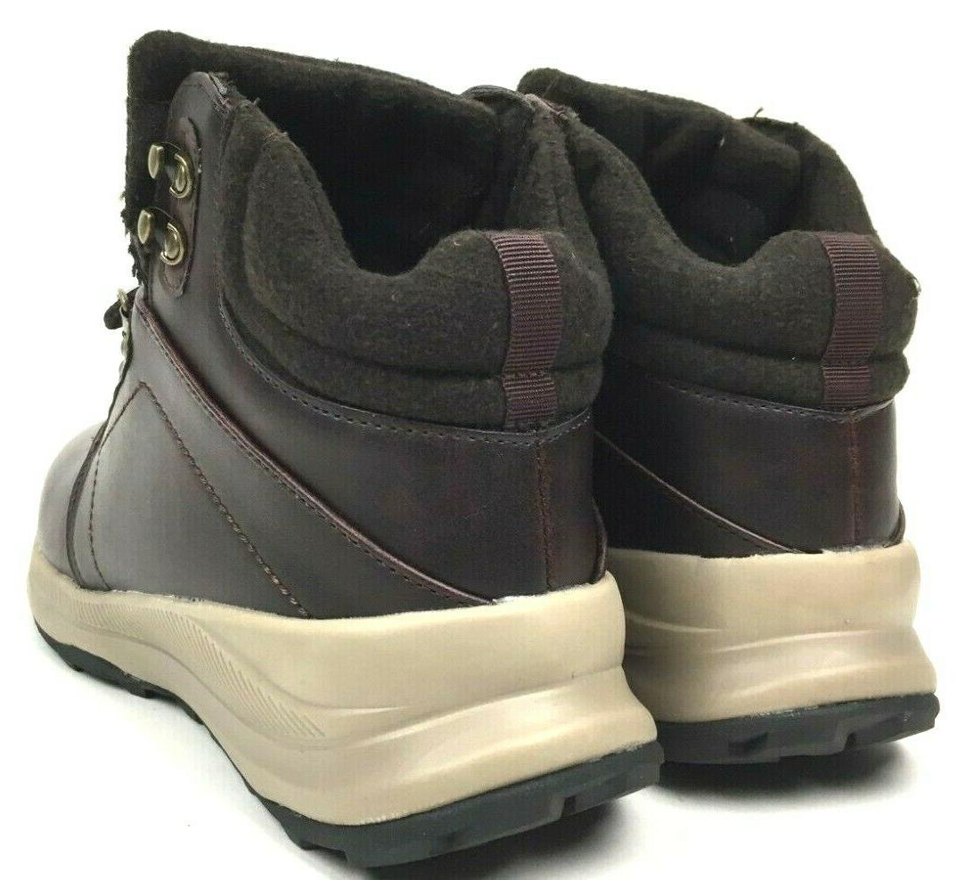 Khombu Men's Memory Foam Hiker Boots Brown NEW