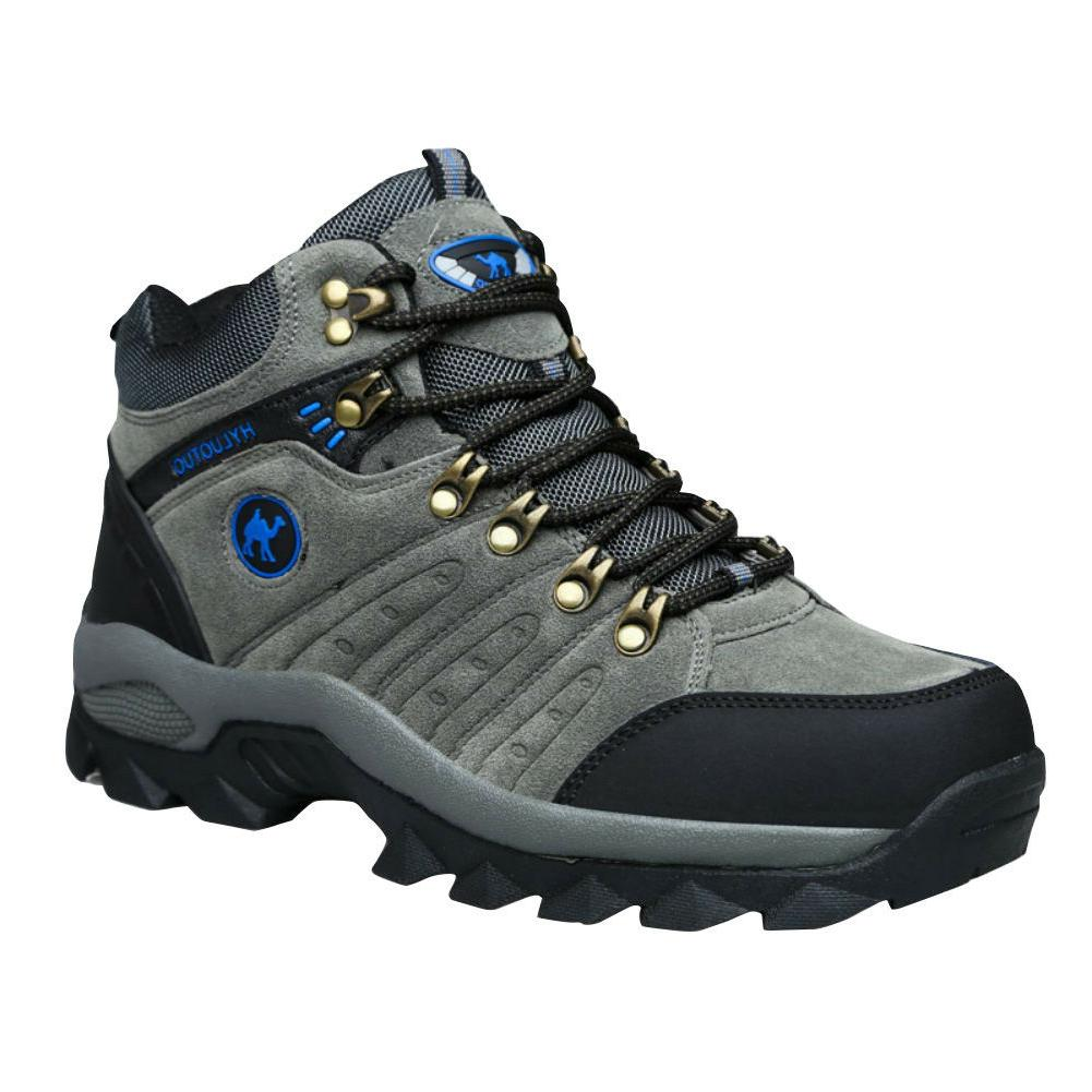 Mens walking casual winter leather waterproof ankle hiking w
