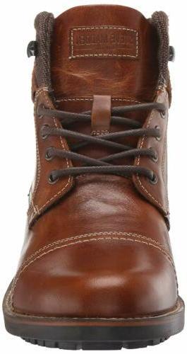 Steve Madden Combat Cognac Leather, 11.5