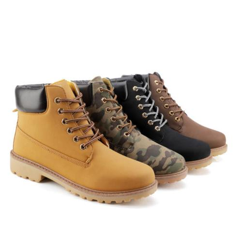 Men's Boots Waterproof Casual Ankle Shoes Size