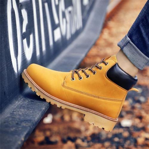 Men's Outdoor Waterproof Leather Casual Size 10