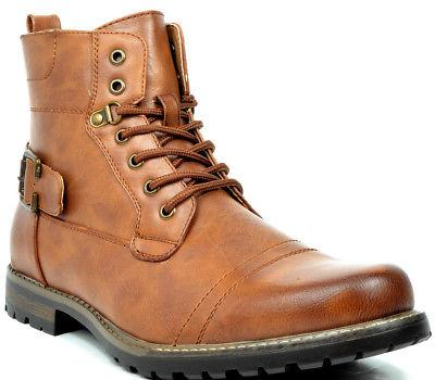 BRUNO MARC NEW Men Philly-3/5 Combat Riding Ankle