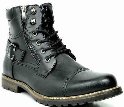 BRUNO MARC Men Military Motorcycle Combat Riding Ankle Leath