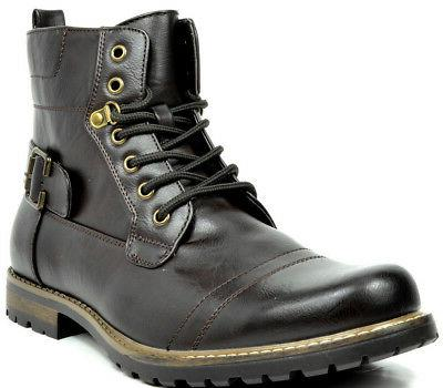 BRUNO MARC NEW YORK Men Philly-3/5 Military Combat Riding Ankle Boots