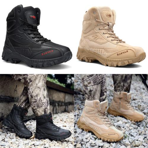 Men's Military Tactical Boots Outdoor Mid-Ankle Trekking Hik