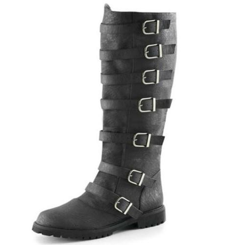 Men's Pirate Boots Military Combat Shoes US