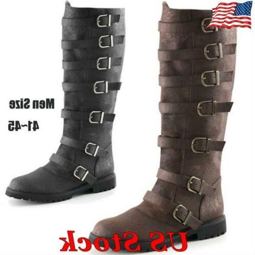 Men's Boots Pirate Boots Buckle Combat Shoes