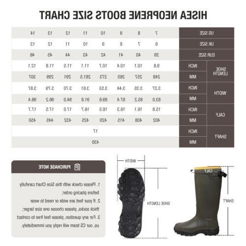 HISEA Men's Work Boots Rubber