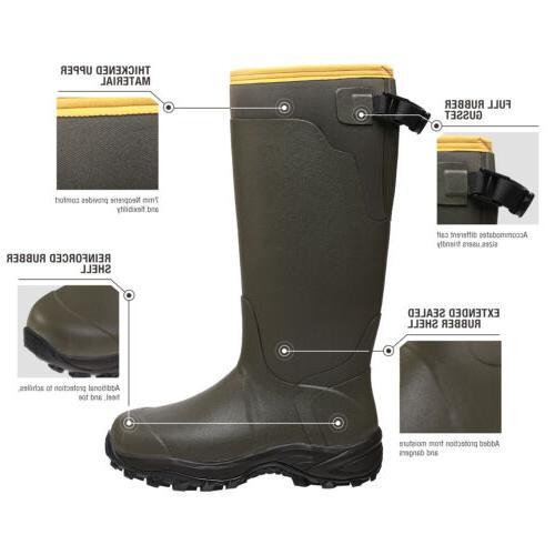 HISEA Men's Work Boots Rubber Snow Rain Boots