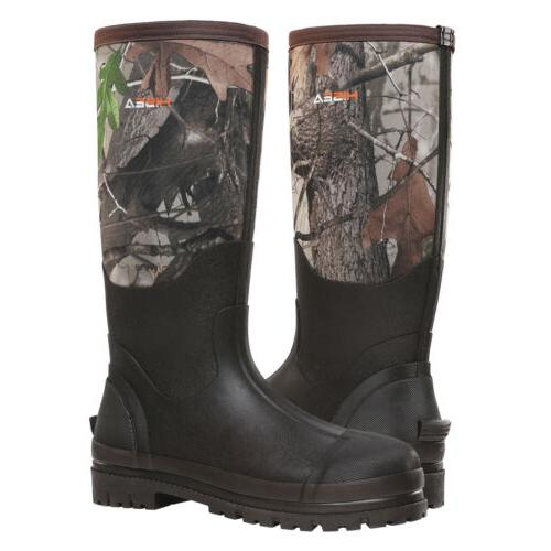 HISEA Men's Boots Rubber Neoprene Breathable Hunting Boots