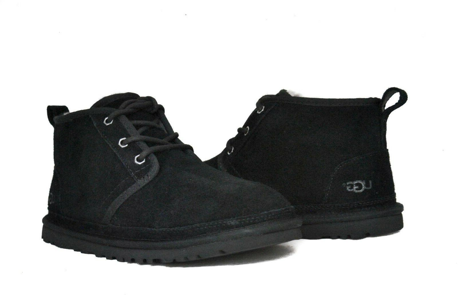 UGG Australia Men's Neumel 3236 Shoes Black Suede NEW Sz 6-1