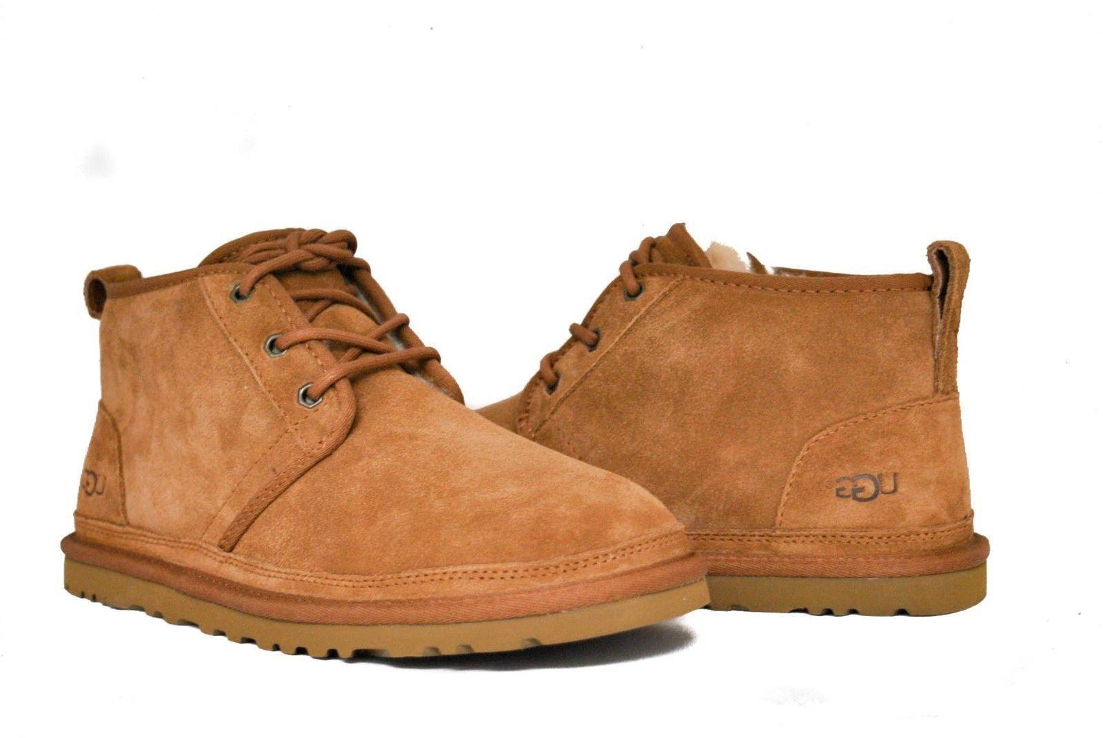 UGG Australia Men's Neumel 3236 Shoes Chestnut Suede Sz 7-14