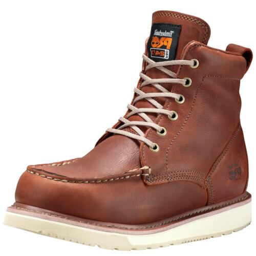 """Timberland Pro Men's Pro 6"""" Wedge Soft Toe Work Boots Style"""