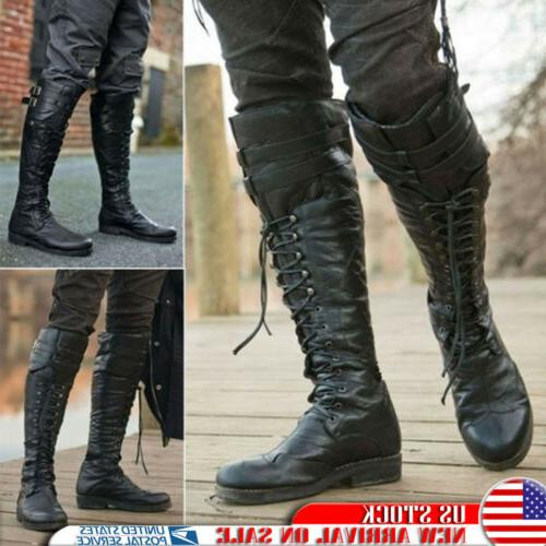 men s retro pirate knee high boots