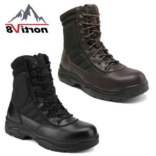 men s safety steel toe waterproof combat