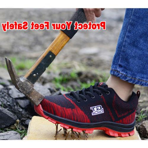 Men Safety Work Shoes Steel Toe Sneakers Climbing S17