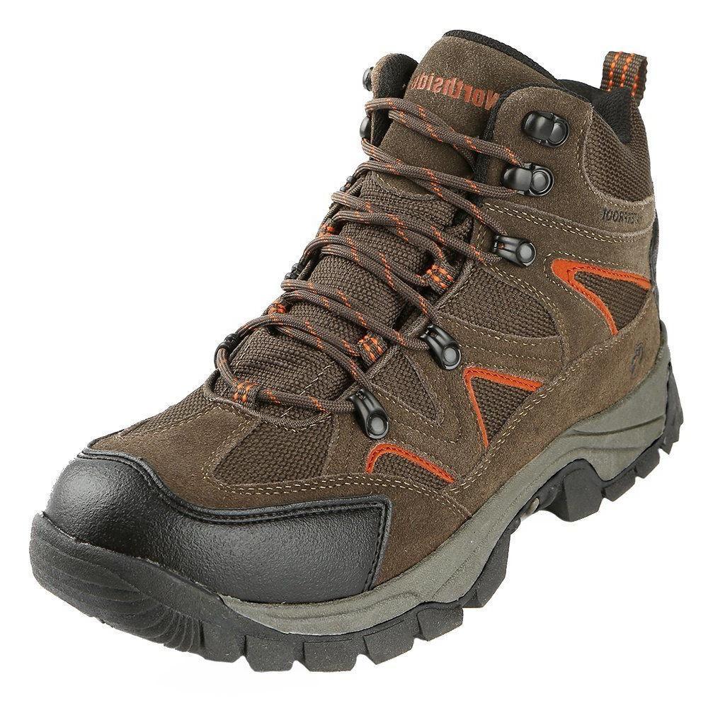 Northside Men's Snohomish Waterproof Hiking Boot Bark/Orange