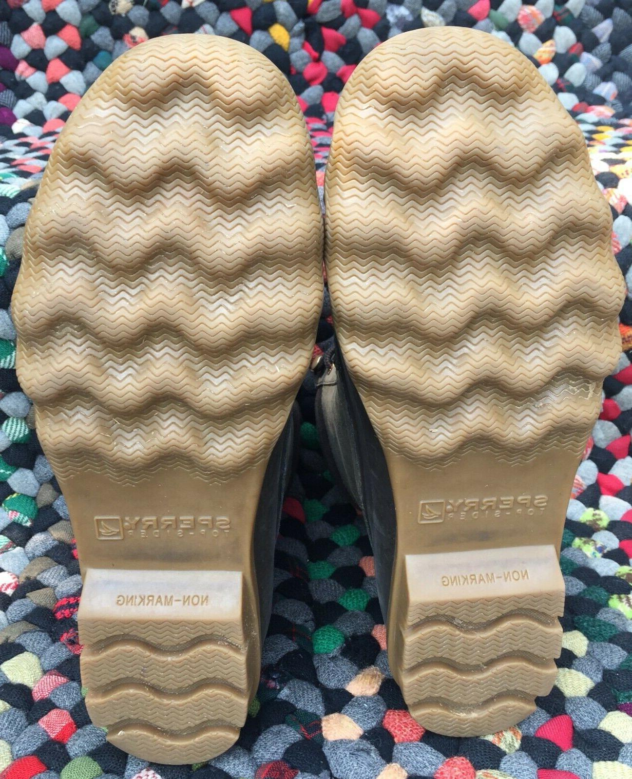 Men's SPERRY Brewster Rain Boot Waterproof Brown Leather 8