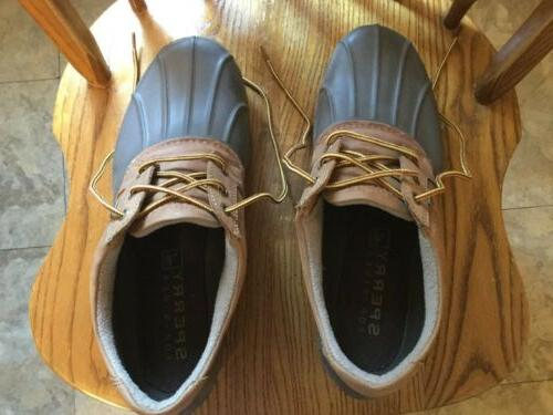 Men's Leather Top-Sider Size 11 M Duck Rain Sperry