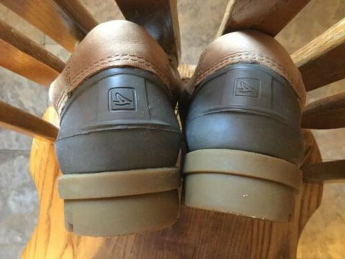 Men's Leather Top-Sider Size 11 M Duck Rain Snow Sperry