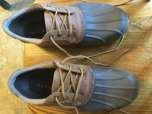 men s sperrys leather top sider size