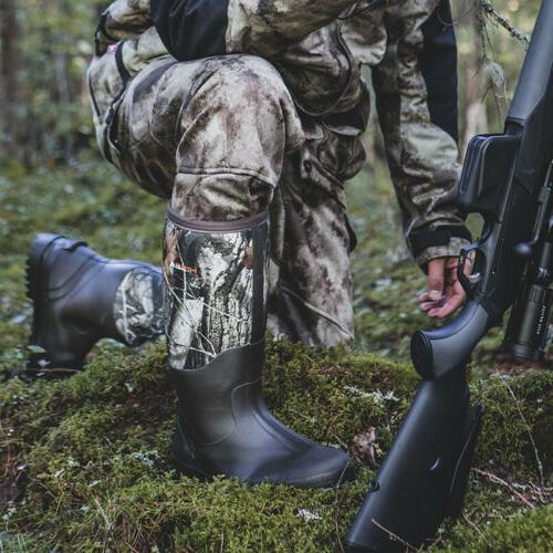 HISEA Men's Muck Boots Rubber Breathable