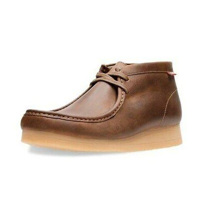 Clarks Stinson Wallabee Boots Beeswax -