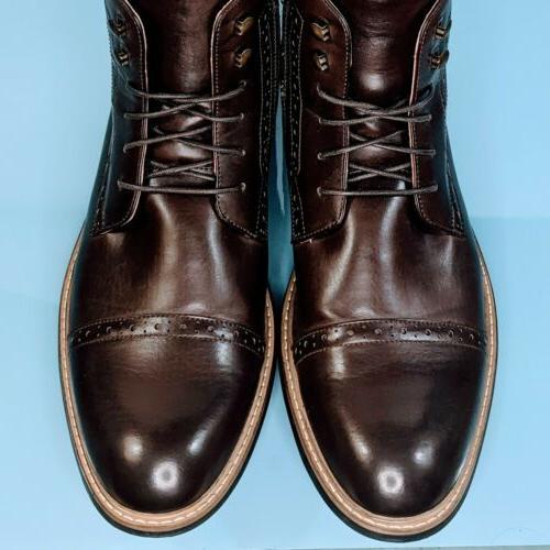 BRUNO Men's Brown Derby Shoes