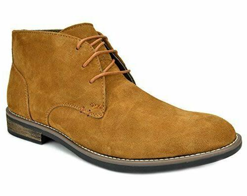Men's Flat Suede Leather Lace Up Oxfords Casual Chukka Deser