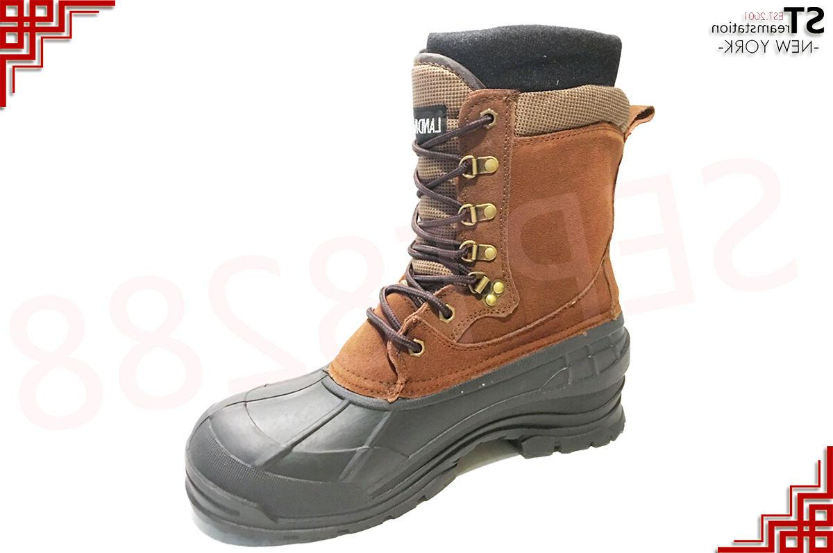 LM Men's Winter Boots Shoes Insulated