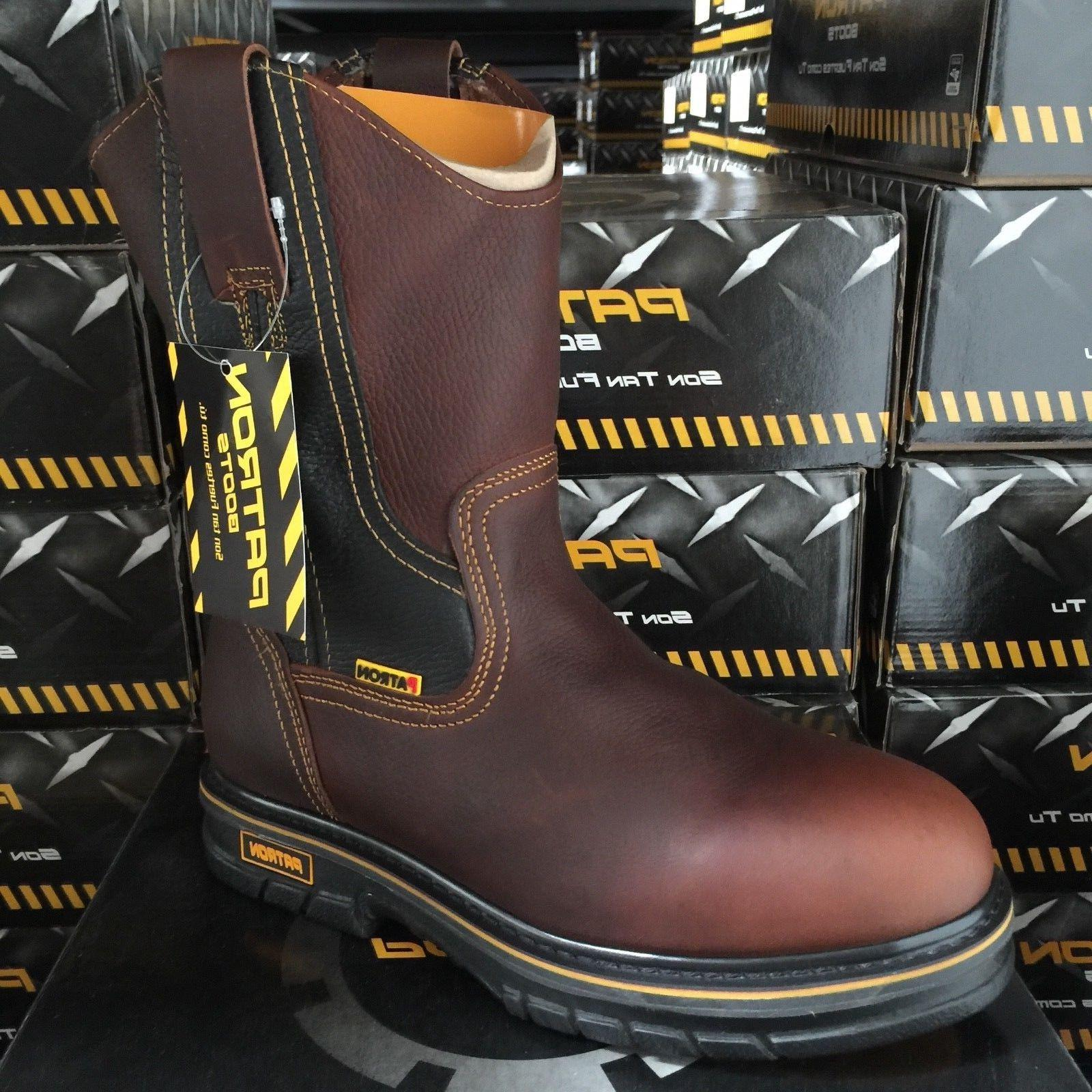 MEN'S WORK LEATHER RESISTANT BOOTS