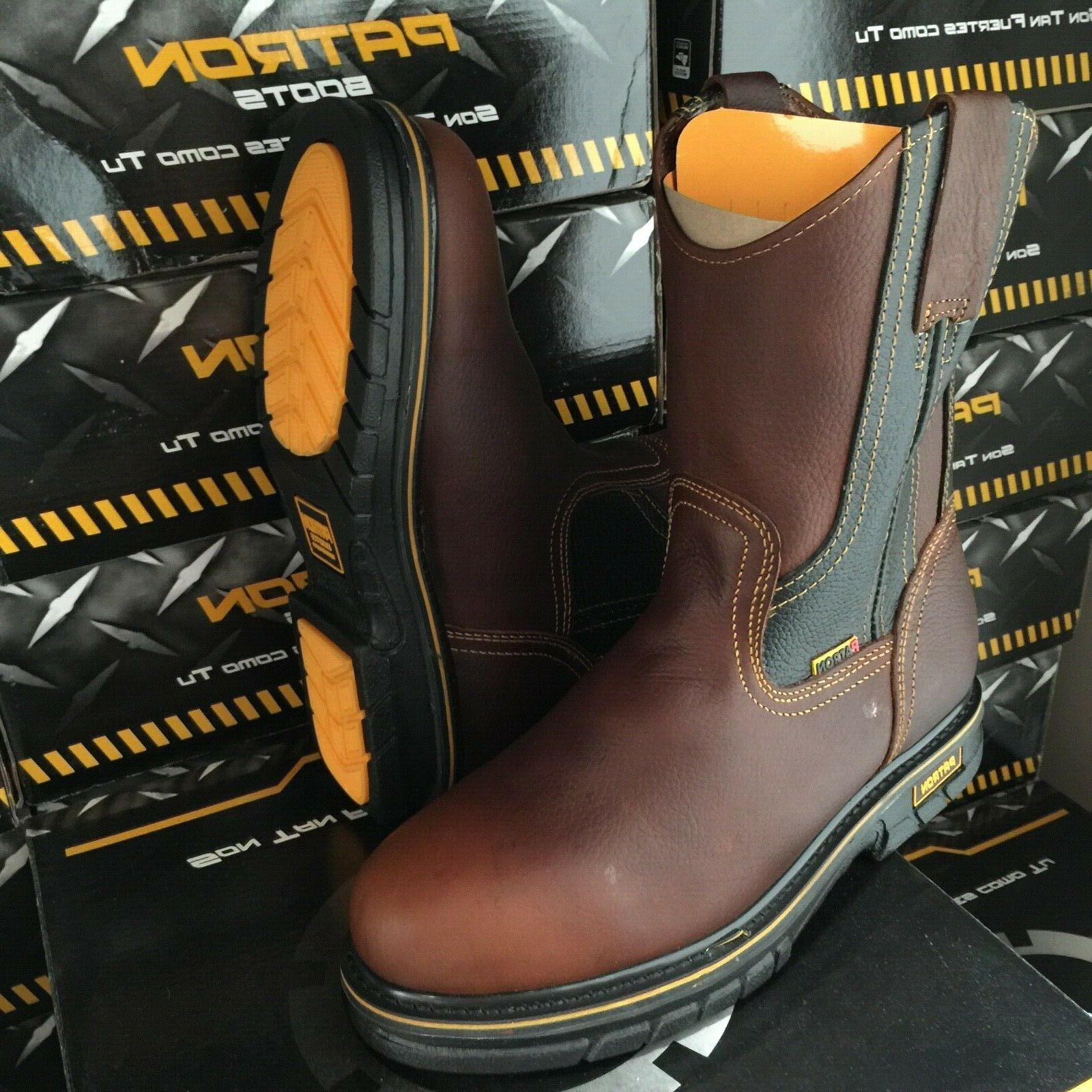 MEN'S WORK BOOTS OIL TUMBLED COLOR