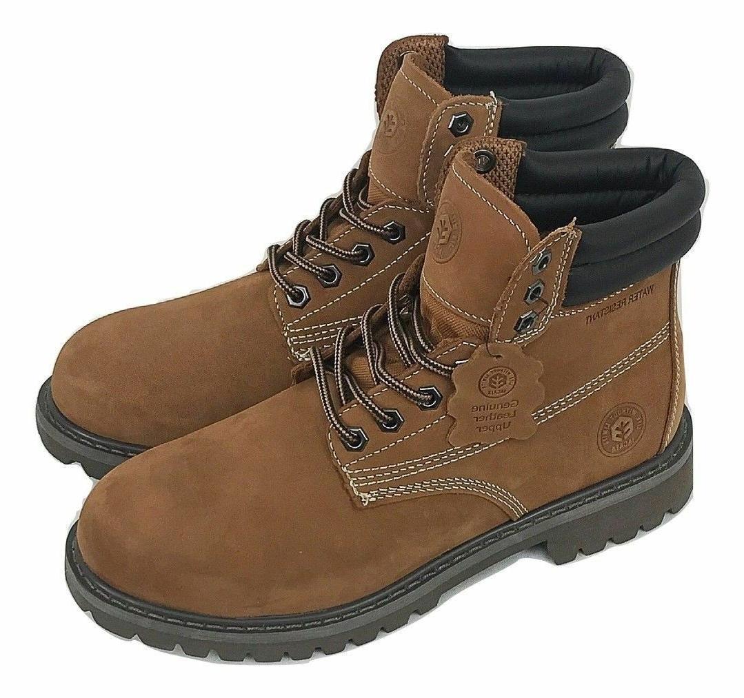 Men's Winter Work Boots Rubber Wheat Black 8601