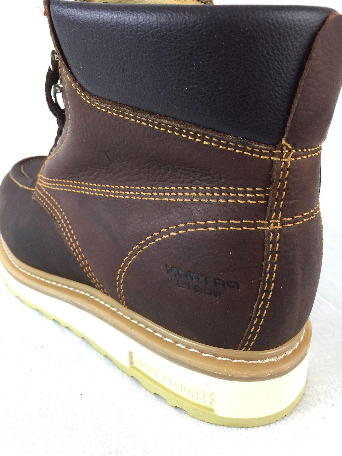 MEN'S BOOTS TOE LEATHER UP