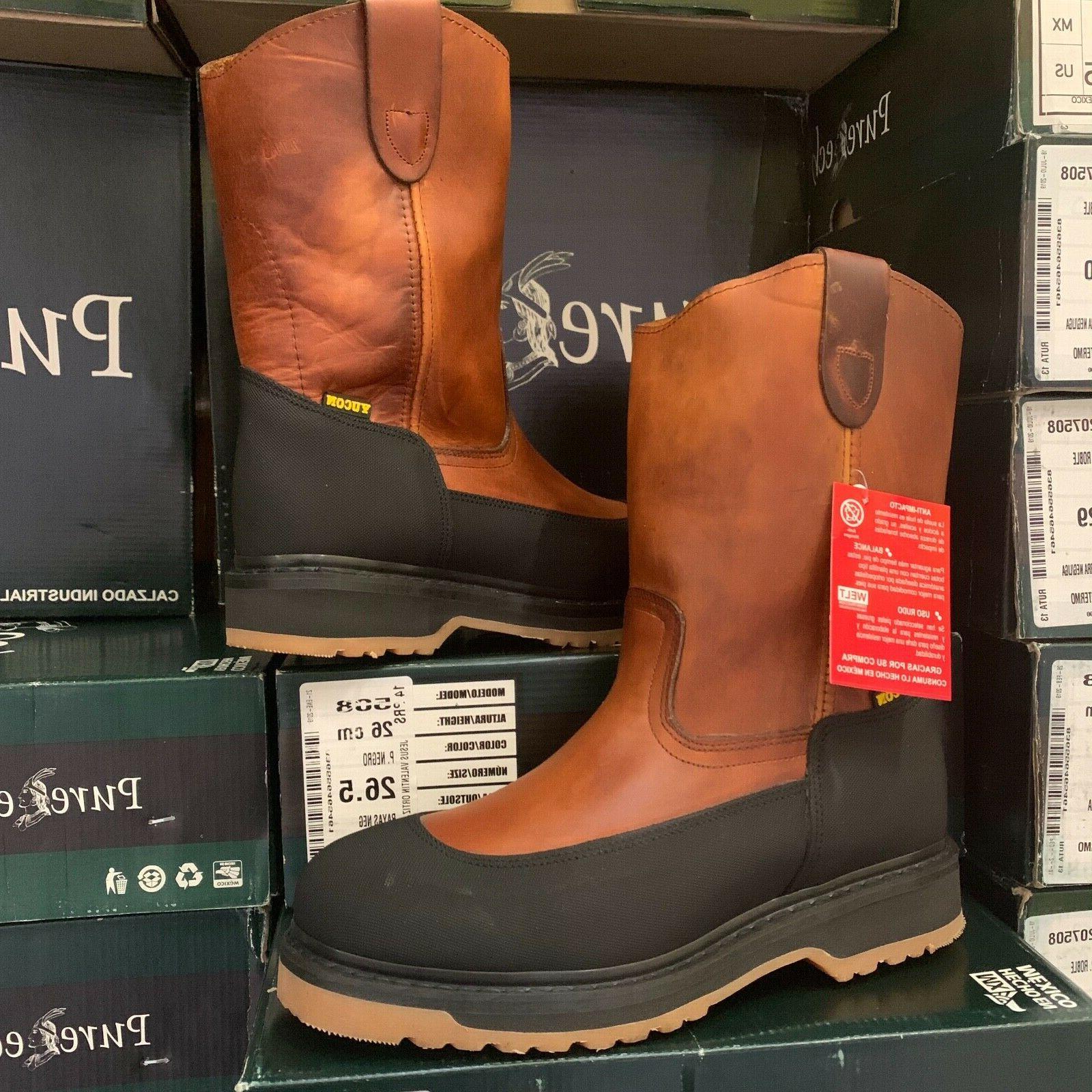 men s work boots mudguard around toe