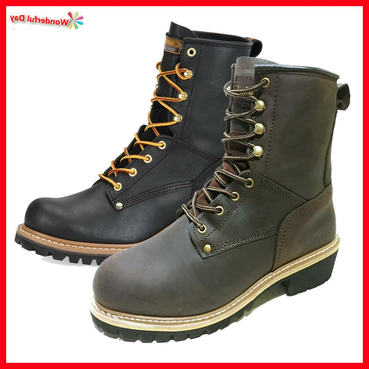 men s work boots rugged pioneer logger