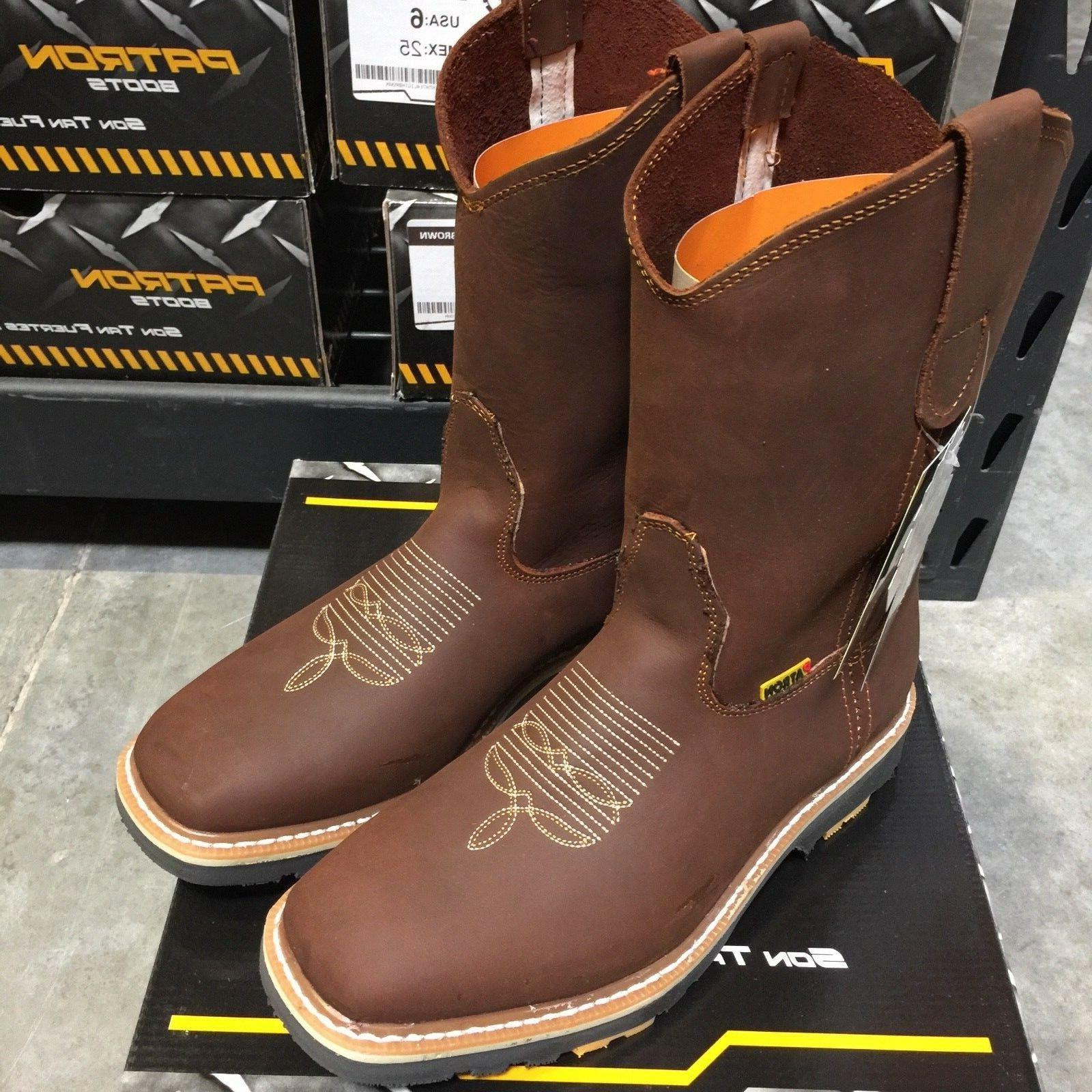 MEN'S BOOTS WESTERN COWBOY PULL ON BOOTS