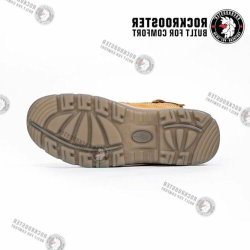 ROCKROOSTER Men's Boots,Steel Toe, Shoes
