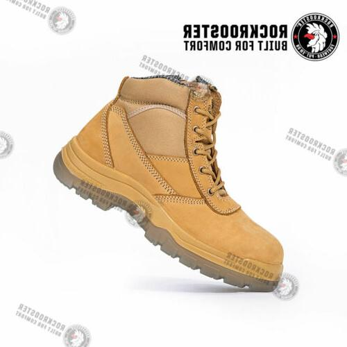 ROCKROOSTER Men's Work Boots,Steel Toe, Shoes