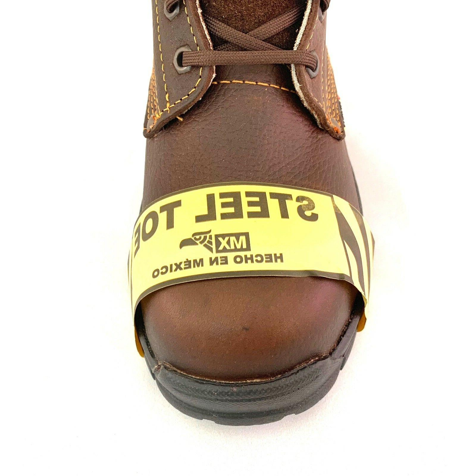 TOE GENUINE LEATHER UP SAFETY BROWN