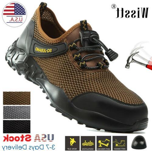 men s work safety mesh shoes steel