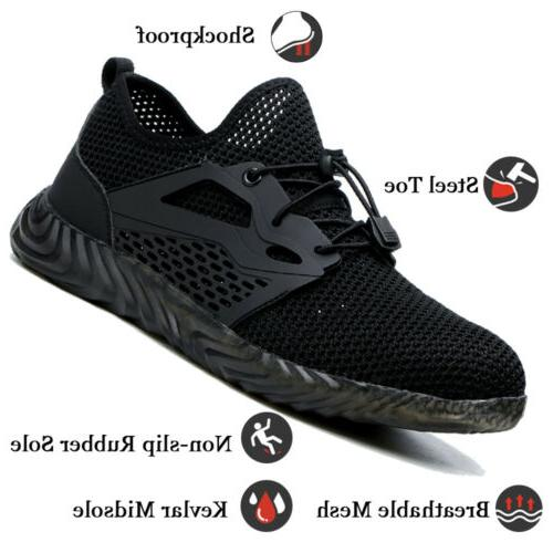 Men's Work Shoes Steel Boots Breathable Light Leisure